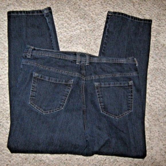 Style & Co Denim - Natural Fit Dark Blue 5 Pocket Stretch Jeans 16P